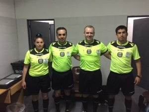 Referee crew including Skye at Argentina semi